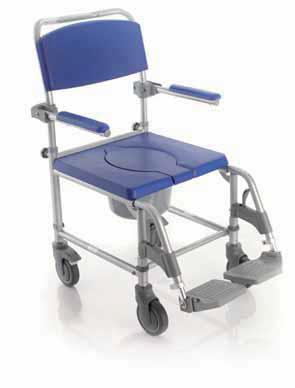 Sedia comoda per anziani e disabili per doccia.
