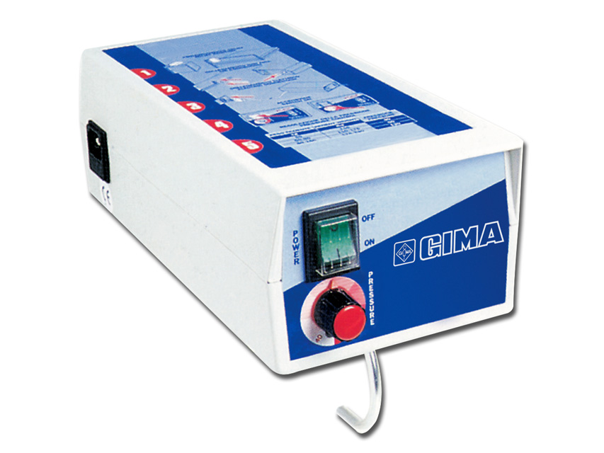 Il compressore Master può essere utilizzato con materassi a bolle o a sezioni intercambiabili.