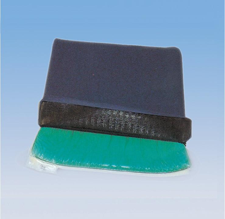 Cuscino per seduta composto da uno strato di gel poliuretano con alto grado di assorbimento delle pressioni