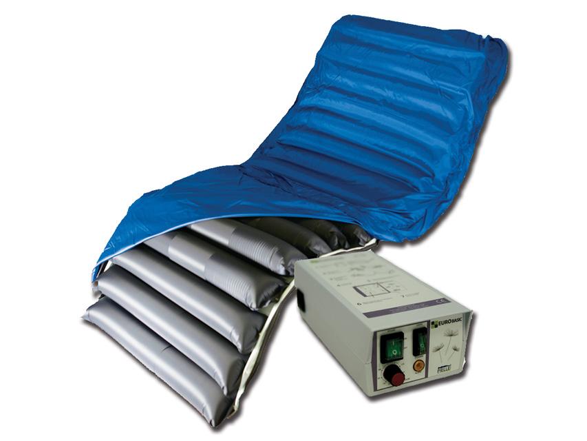 Il sistema include pompa, materasso, copertura e sensore di inclinazione.
