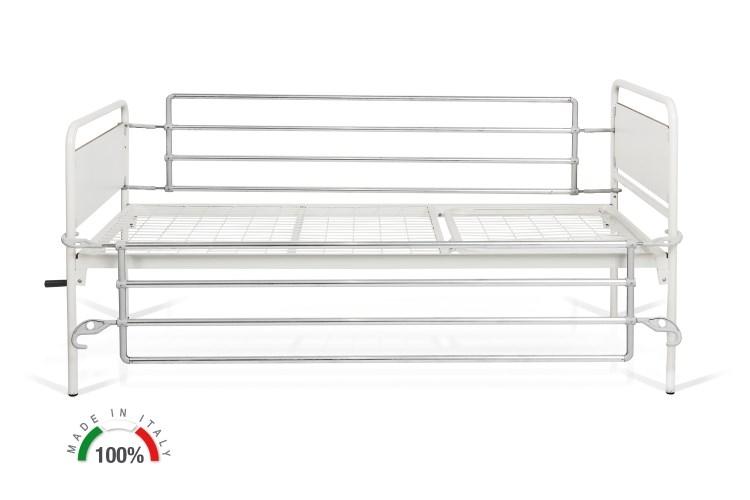 Sponde ribaltabili in alluminio per letti TULIPANO / LOTUS.