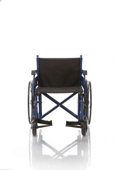 Telaio stabilizzante in acciaio verniciato DOPPIA crociera, seduta e schienale in nylon nero imbottito e lavabile