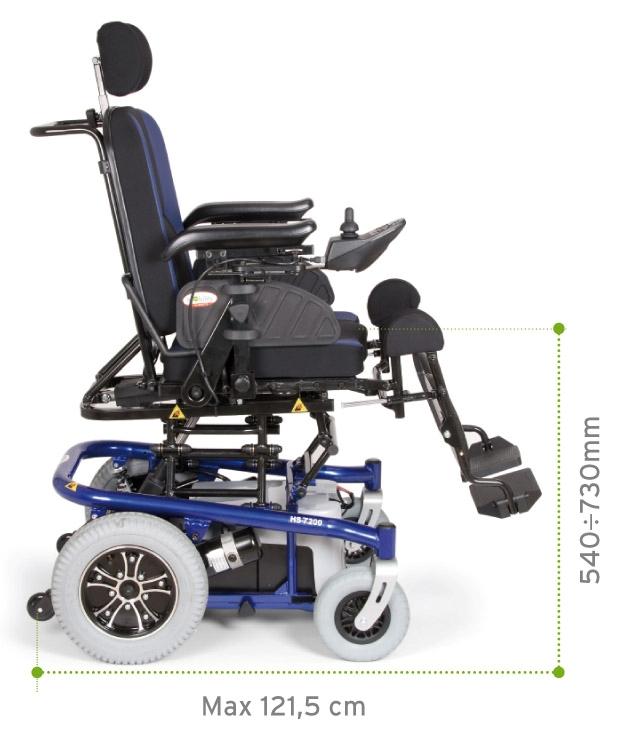 Sedile e schienale reclinabili elettricamente fino a raggiungimento della posizione letto.