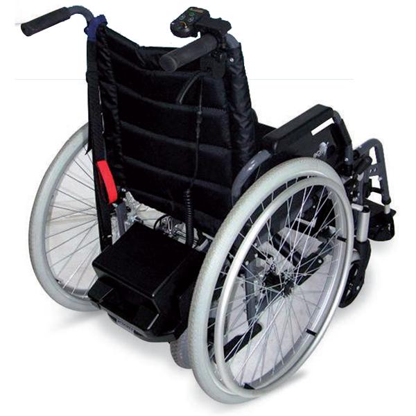 Il propulsore PS-HA ERCOLINO è stato progettato come ausilio elettrico per chi assiste un paziente, ovvero nel caso in cui serva una maggiore spinta alla carrozzina in situazioni altrimenti faticose.