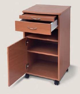 Comodino a rotelle in legno per stanze da letto