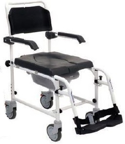 Sedia doccia utilizzabile anche come sedia comoda