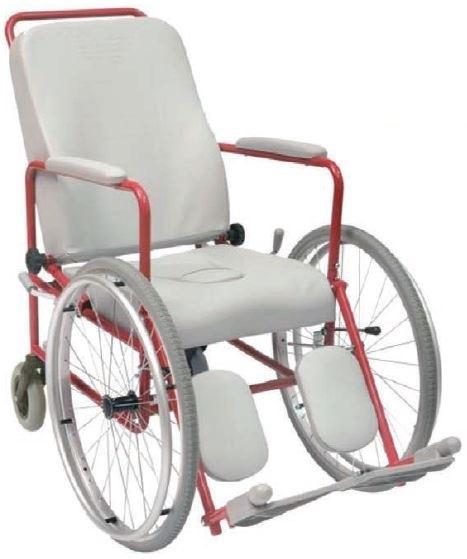 La comoda imbottita modello Wimed con ruote anteriori da 600 mm  modello: -con foro -senza foro