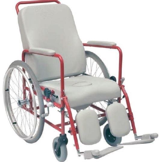 La comoda imbottita modello Wimed con ruote posteriori da 600 mm  modello: -con foro -senza foro