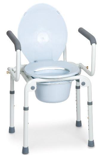 Rialzo sedia comoda fissa con braccioli ribaltabili 4 puntali