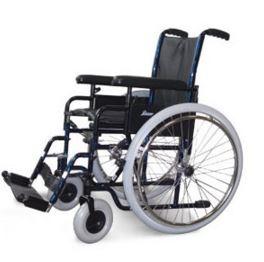 Carrozzina pieghevole standard ad auto spinta Seduta cm 41-43-46 Bracciolo regolabile in altezza K13 Pedane fisse K20 Portata massima kg100