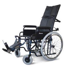 Carrozzine pieghevole ad auto spinta con schienale reclinabile Seduta cm 41-43-46 Bracciolo a scrivania K15 Pedane regolabili in altezza K21 Prolunga schienale K18 Portata massima kg100