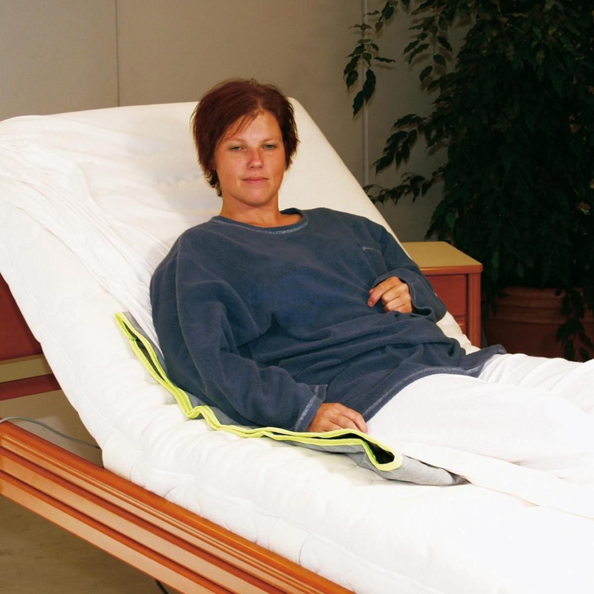 Telo antiscivolo, adatto all'utilizzo nel letto.  Scorrimento di rotazione uniderezionale del telo.