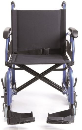 Telaio stabilizzante in alluminio verniciato, crociera DOPPIA, seduta e schienale in nylon nero