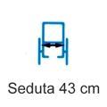 Picture of Noleggio Carrozzina pieghevole ad autospinta - Seduta 43 cm