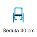 Picture of Noleggio Carrozzina pieghevole ad autospinta - Seduta 40 cm