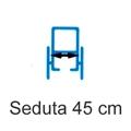Picture of Noleggio Carrozzina pieghevole ad autospinta - Seduta 45 cm
