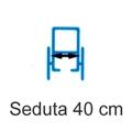 Picture of Noleggio Carrozzina pieghevole transito -  Seduta 40 cm