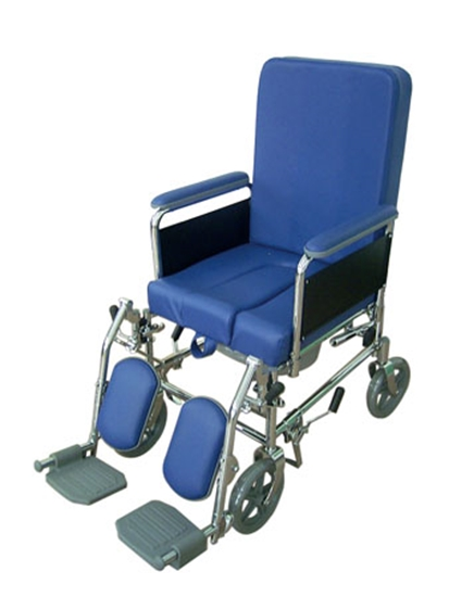 Picture of RC132 Sedia comoda a 4 ruote da 22cm - schienale reclinabile - seduta 48 cm