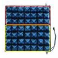 Picture of ST856 / 2 Cuscino a bolle d'aria 2 sez. 40x40 h 10 cm