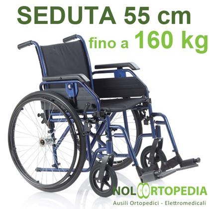 Immagine di Noleggio Carrozzina pieghevole ad autospinta - Seduta 55 cm - Obesi