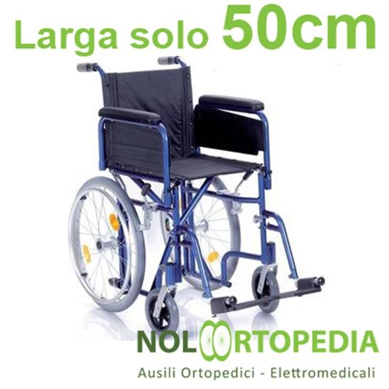 Picture of Noleggio Carrozzina pieghevole ad ingombro ridotto -  Seduta 40 cm