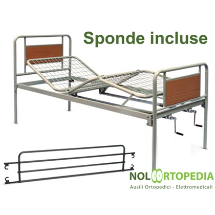 Immagine di Noleggio Letto da degenza ortopedico a due manovelle con sponde