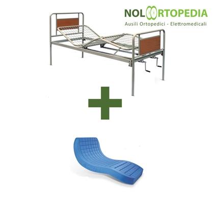 Immagine di Noleggio Letto da degenza ortopedico a due manovelle + Materasso antidecubito