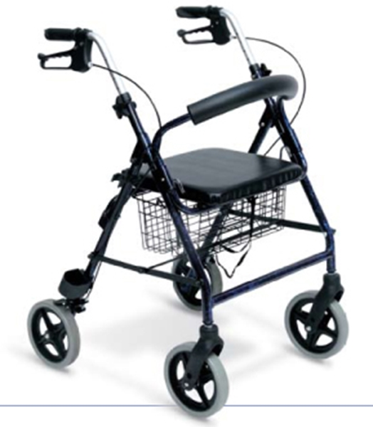 Picture of Deambulatore Rollator 4 ruote alluminio ALU - Wimed - Cod 15607000
