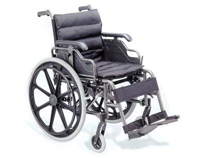 Immagine di CARROZZINA DELUXE - seduta 46 cm - alluminio - tessuto nero - Gima - cod. 27717