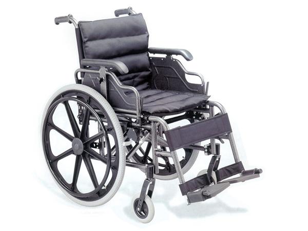 Picture of CARROZZINA DELUXE - seduta 46 cm - alluminio - tessuto nero - Gima - cod. 27717