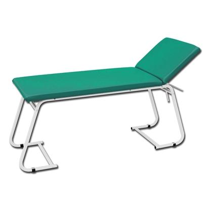 Immagine di Lettino visita medica - metallo verniciato bianco e verde - Gima - cod. 27444
