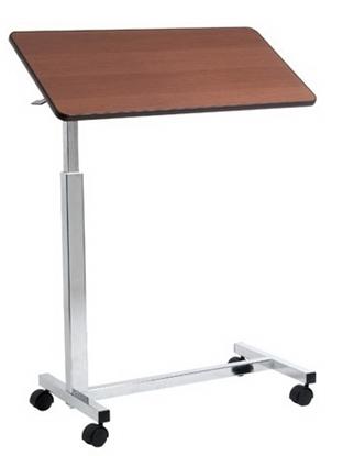 Immagine di Vassoio da letto su ruote con molla per sollevamento automatico 1 piano - colore marrone/naturale - Mopedia