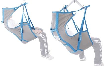 Immagine di Imbracatura contenitiva con stecche per sollevamalati - Con poggiatesta - In tessuto di poliestere in tela - Mopedia