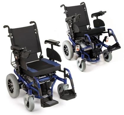 Immagine di Carrozzina elettrica ARIES - Seduta e schienale Inclinabili manualmente - seduta 45 cm - ARDEA CS900BL