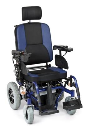 Immagine di Carrozzina elettrica ARIES TILTING - Multifunzione - Seduta inclinabile elettronicamente - seduta 45 cm - ARDEA CS910BL