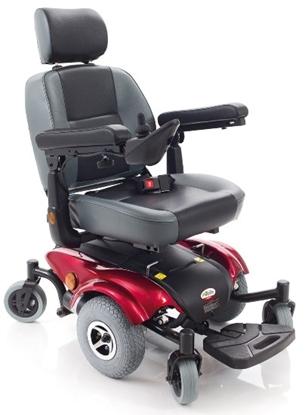 Immagine di Carrozzina elettrica VIRGO A 6 ruote - seduta 50cm - ARDEA CS930