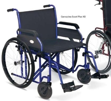 Immagine di Carrozzina Bariatrica Excel Plus HD Seduta da 50cm a 60cm - blu - Heavy Duty - Wimed