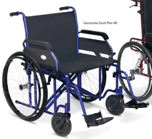 Picture of Carrozzina Bariatrica Excel Plus HD Seduta da 50cm a 60cm - blu - Heavy Duty - Wimed
