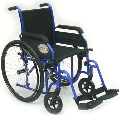 Immagine di Carrozzina Excel Plus seduta da 36cm a 50cm - blu - Wimed