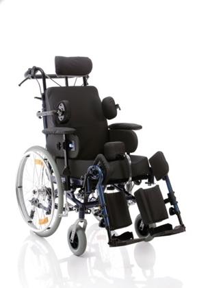Immagine di Poltrona polifunzionale assistita - autospinta con ruote posteriori Ø 60 cm - seduta da 40cm a 45cm - RELIEF - ARDEA CP910-xx