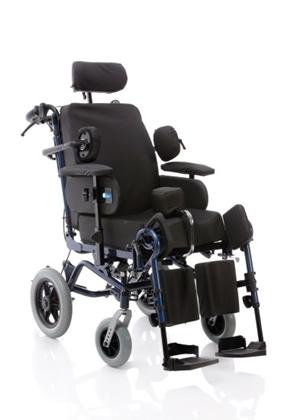 Immagine di Poltrona polifunzionale assistita - da transito con ruote posteriori Ø 30 cm - seduta da 40cm a 45cm - RELIEF - ARDEA CP900-xx