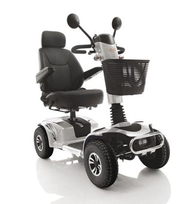 Immagine di Scooter elettrico MIRAGE - Argento o Blu - Pratico, compatto e performante - seduta 46 cm - ARDEA