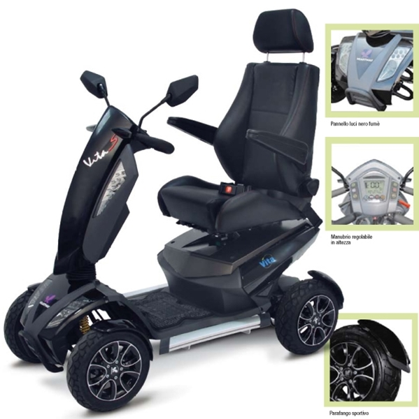 Picture of Scooter VITA S12 Sport nero titanio - Wimed