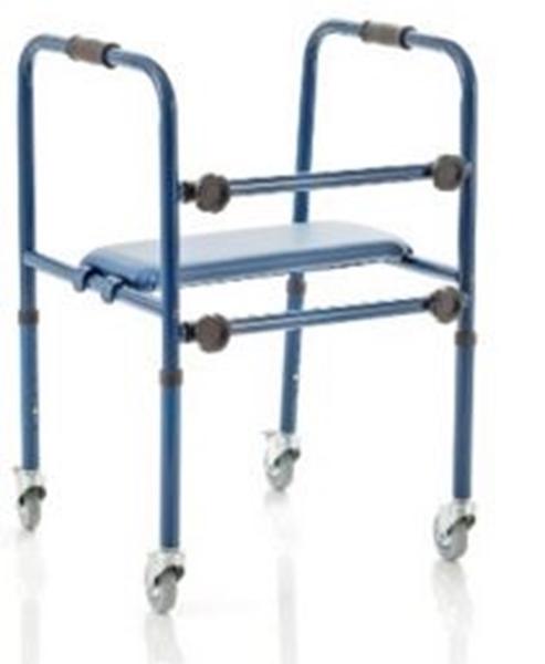 Picture of Deambulatori con 4 piroettanti altezza regolabile smontabile in alluminio verniciato - Mopedia cod RP748