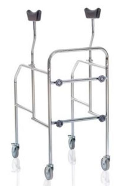 Picture of Deambulatori con appoggio sottoascellare smontabili in acciaio cromato - Mopedia Cod. RP755S