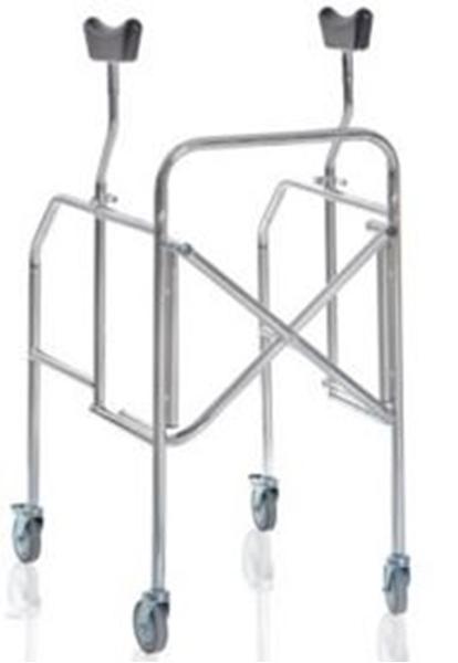 Picture of Deambulatori con appoggio sottoascellare pieghevole gambe regolabili in acciaio cromato - Mopedia Cod. RP754S