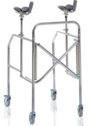 Immagine di Deambulatori con antibrachiale pieghevole in acciaio cromato - Mopedia Cod. RP756A