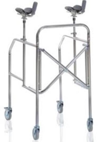 Picture of Deambulatori con antibrachiale pieghevole in acciaio cromato - Mopedia Cod. RP756A