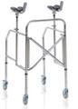Picture of Deambulatori con appoggio antibrachiale pieghevole gambe regolabili in acciaio cromato - Mopedia Cod. RP754A