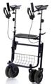 Picture of Deambulatori Rollators 4 ruote piegevole con appoggio antibrachiale in acciaio verniciato - Mopedia Cod. RP691